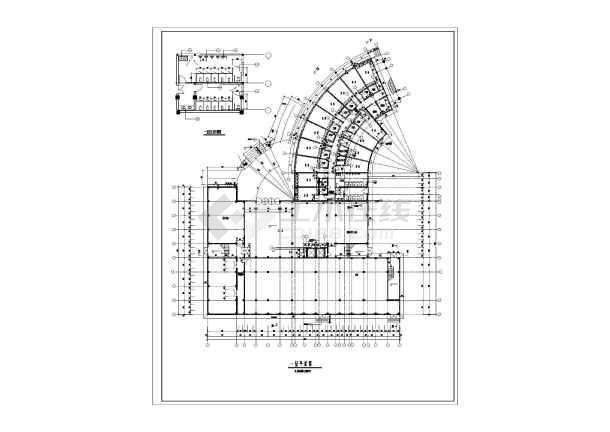 椭圆形酒店建筑设计图纸