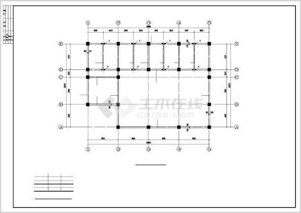 县城两层钢框架结构房屋结构图