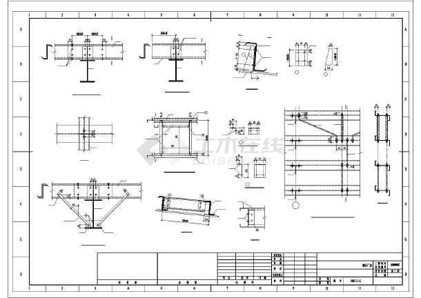 [四川]174米跨门式刚架结构农机厂房结构施工图(10t吊车)