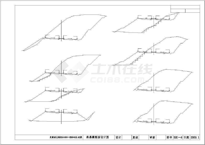 一级四图纸高速公路建筑车道(图纸)阳角全套图片