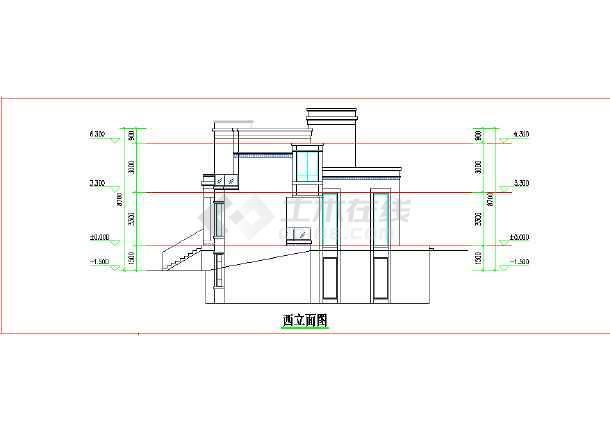 两层600平模型双拼CAD别墅+SU图纸+效果图直流有多路图纸怎么表示图片