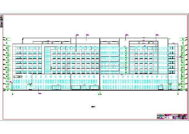 某市新建全套楼门厅建筑施工图住宅设计病房图片