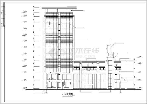 本图纸为党校学员公寓建筑设计施工图,内容包括:屋顶飘板平面图,底层