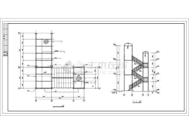 某钢结构走廊楼梯cad施工设计图