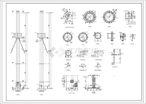 30m拉索钢图案详细cad设计施工图纸可爱图纸毛衣烟囱成人图片