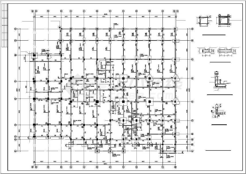 某地豪华欧式酒店裙建筑设计方案图_cad图纸下载-土木
