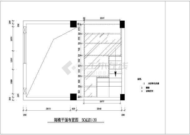 某小服装店建筑设计图