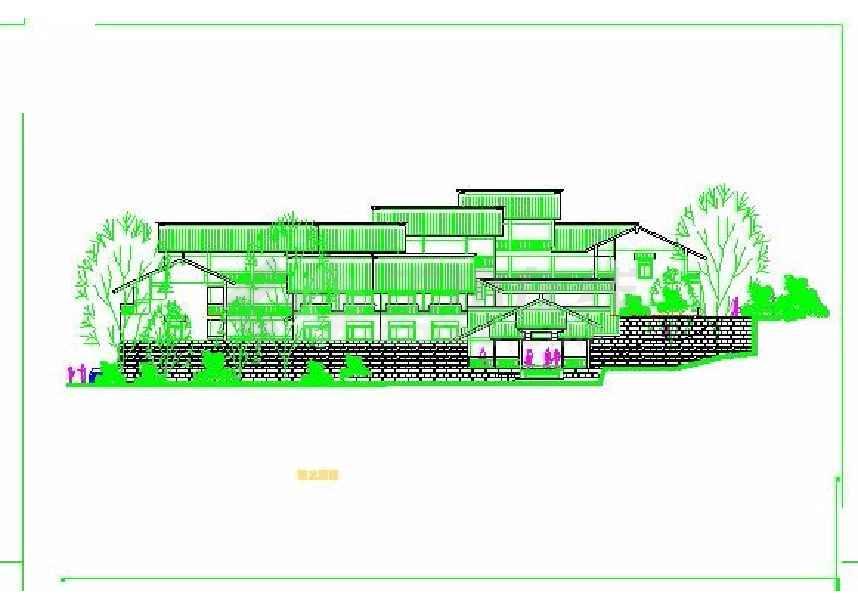 某地风景区度假山庄建筑方案图_cad图纸下载-土木在线
