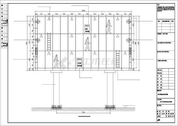 双立柱型led显示屏钢结构施工图