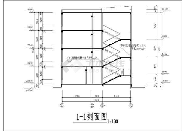 一套小学教学楼建筑全套设计cad施工图
