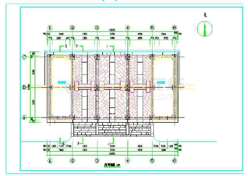 某地图纸仿古画室门楼v图纸CAD景区能哪里内大门哈尔滨CAD图纸图片