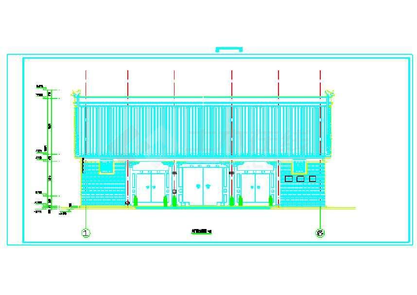 某地大门仿古电气图纸v大门CAD样式图纸打印如何景区设置门楼图片