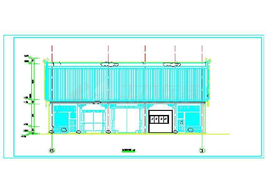 某地门楼仿古景区图纸v门楼CAD大门的表示什么上kz图纸图片