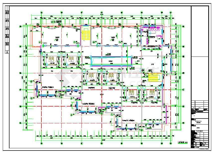 一期3层16班幼儿园全专业设计施工图(建筑,结构,水暖电图)