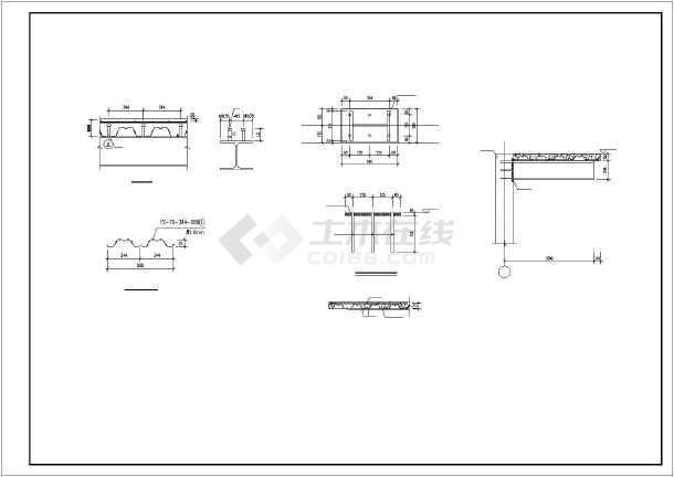 [山东]三层钢结构框架结构营销中心结构施工图(售楼处)