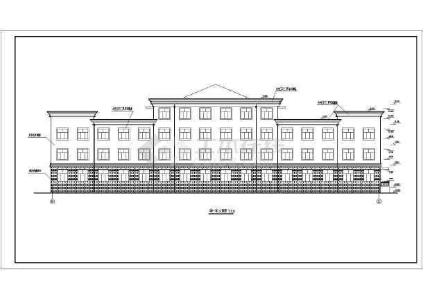 某大型四层办公楼建筑设计图四房一厅一厨一卫图纸四方设计图图片