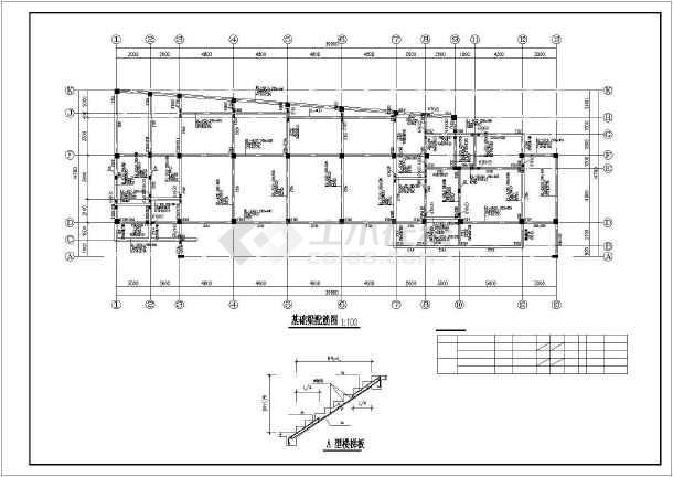 某4层框架结构幼儿园全套建筑结构图