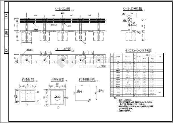 2018-B级波形梁套装设计图(cad护栏下载)图纸宗罪七图纸图片