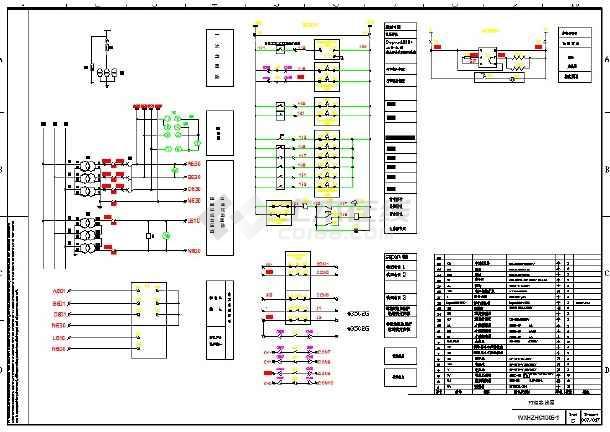 总变电室35kv开关柜设计图,包括35kv变电所高压配电系统图,正面图,背