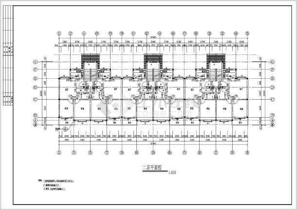 [湖北]某地公司廉租房建筑cad设计图