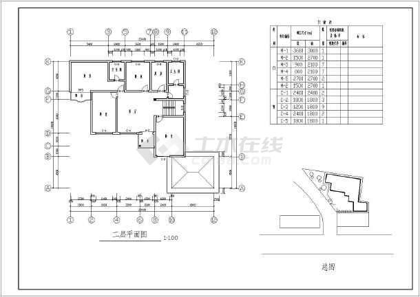 比较高档的二层别墅建筑结构施工图