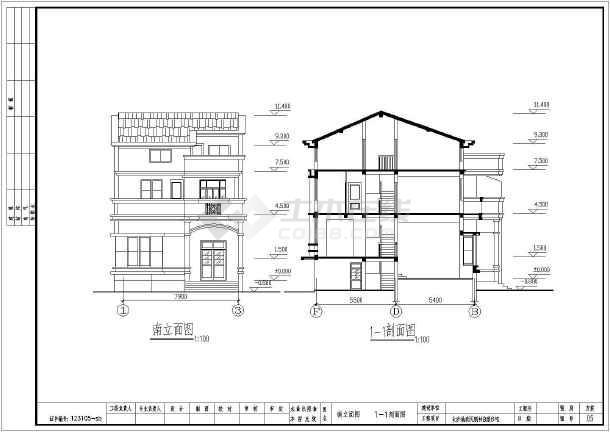 某地简单的别墅建筑cad图 - 别墅建筑图纸下载 - 土木