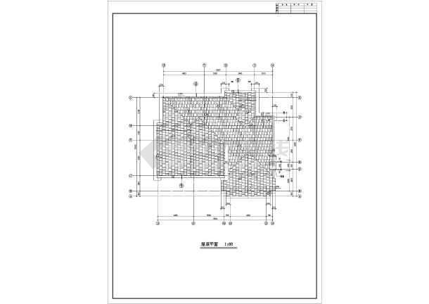 某地框架结构单家独院式别墅建筑设计图