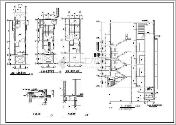 某十层钢结构纯框架体系公寓楼建筑结构施工图