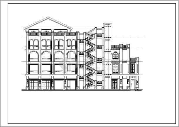 44㎡四层欧式商业建筑施工图(6图片