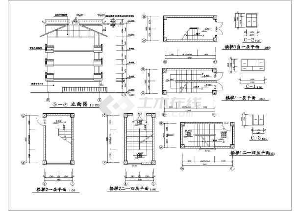 [建筑设计施工图]商业用房建筑设计施工图 - 土木在线