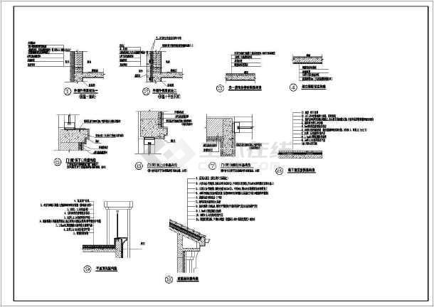 [重庆]某商业广场3644㎡三层欧式商业用房建筑施工图图片