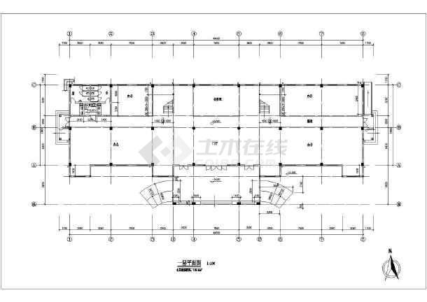 某三层欧式办公楼建筑方案图