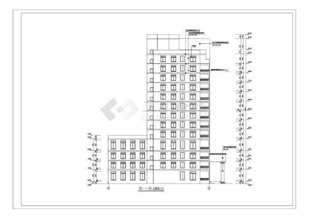 [四川]某武警医院住院大楼建筑设计图vip图片