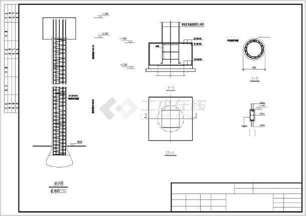 三层框架结构营业房结构施工图(素混凝土桩)