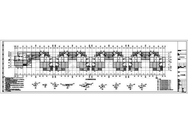 二层框架结构联排别墅结构施工图