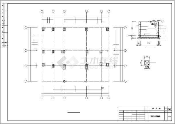 8层独立基础框架办公楼结构施工图图片