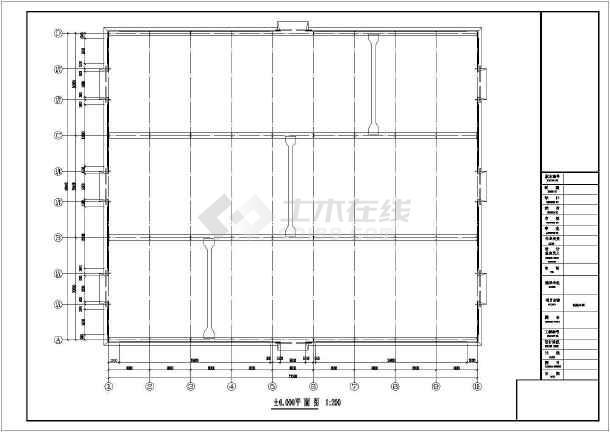 某60米跨钢结构制造车间结构施工图(含吊车梁)