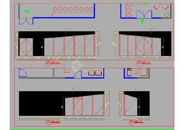 集装箱设计大厅接待CAD图合页图画CAD窗户怎么图片