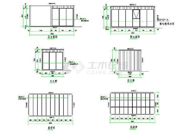 创意集装箱变成部全套CAD图cad售楼体把实体面图片