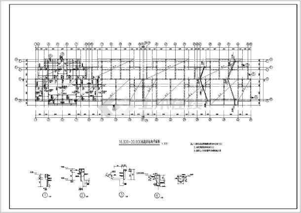 砌体结构住宅楼结构施工图(六层条形基础)