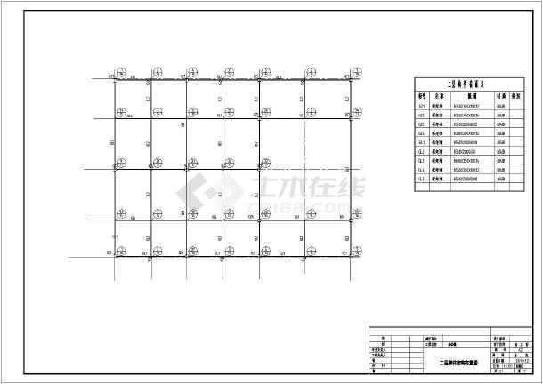 单层门式刚架结构办公楼结构施工图(门式刚架)