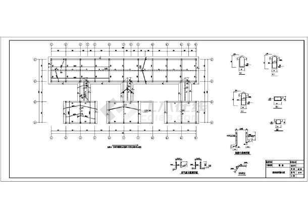 砌体结构私人别墅结构施工图(三层混凝土井桩基础)