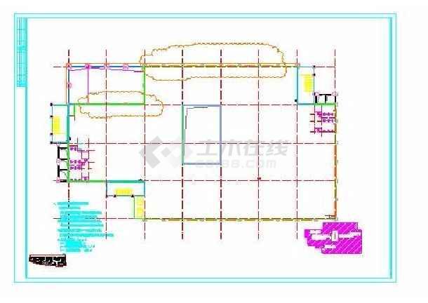 重庆某地商业广场五层欧式商业建筑施工图(欧陆风格)
