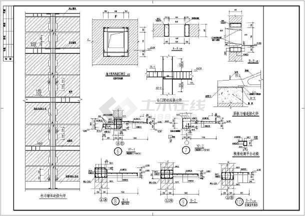 单层砌体结构平房仓结构施工图(条形基础)
