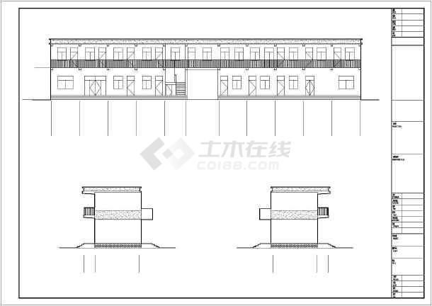 两层砖混结构供电所办公楼结构施工图(含建筑图)