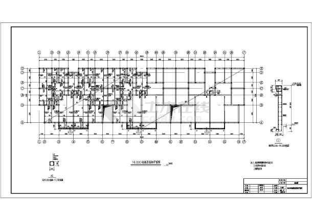 砌体结构宿舍楼结构施工图(六层条形基础)