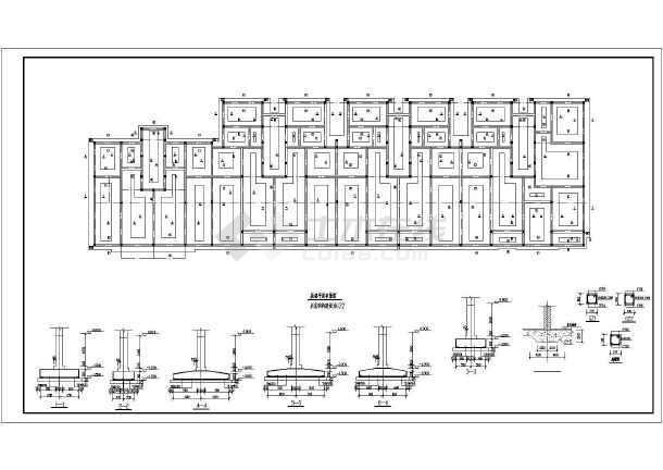 六层砌体结构住宅楼结构施工图(条形基础)