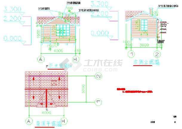 黑龙江某地木结构图纸v图纸图纸6323isl63236323a房屋图片