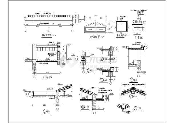 两层条形基础砌体结构别墅结构施工图(6度抗震)