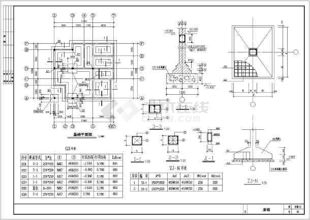 三层条形基础砌体结构私人住宅楼结构全套施工图(含建